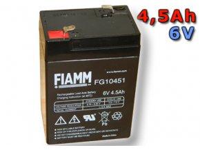 Olověný akumulátor Fiamm FG10451 4,5Ah 6V (VRLA)