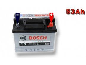 Autobaterie BOSCH S3 004, 53Ah, 12V (0 092 S30 040)