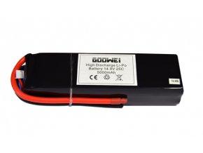 Baterie pro RC modely - 4S1P, 5000mAh, 14.8V, Li-po, 25C