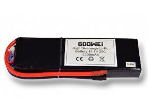 Baterie pro RC modely - 6543126, 3300mAh, 11.1V, Li-po, 25C