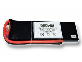 Baterie pro RC modely - 6543126, 3300mAh, 7.4V, Li-po, 25C
