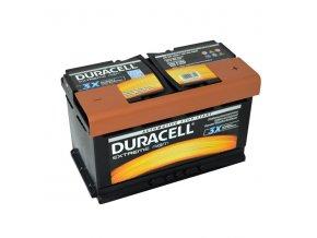 Autobaterie Duracell Extreme AGM DE 80 AGM, 80Ah, 12V ( DE80AGM )
