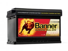 Autobaterie Banner Running Bull EFB 565 12, 65Ah, 12V ( 56512 )