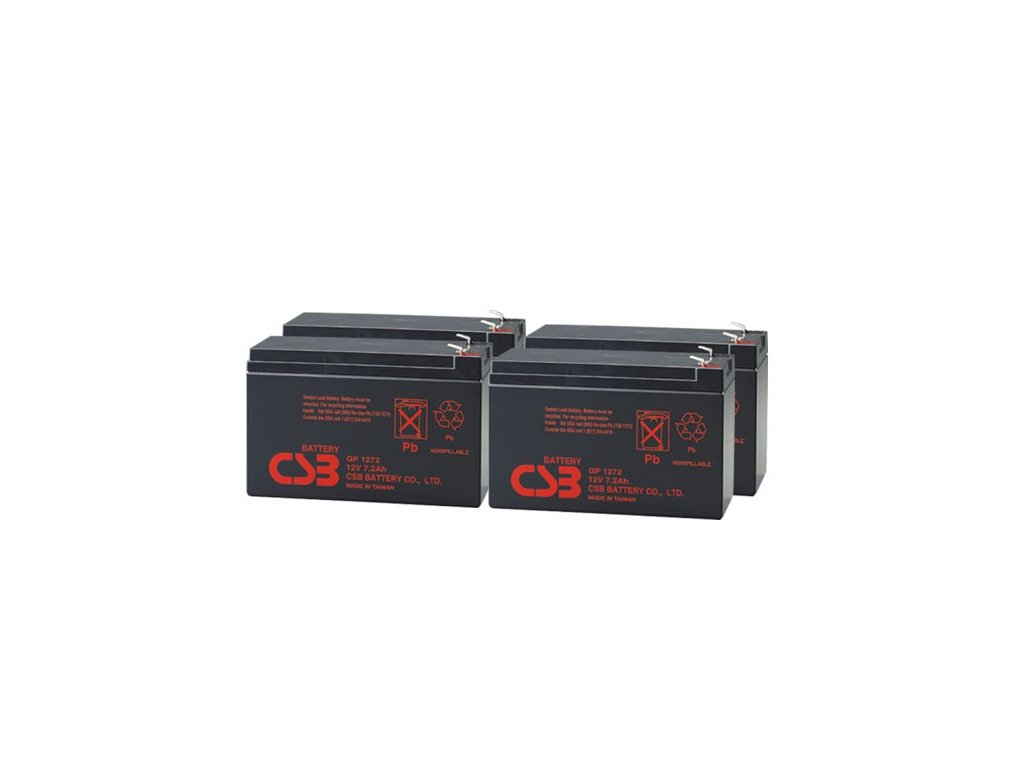 APC RBC23, alternativa bez příslušenství (4ks CSB GP1272 F2)
