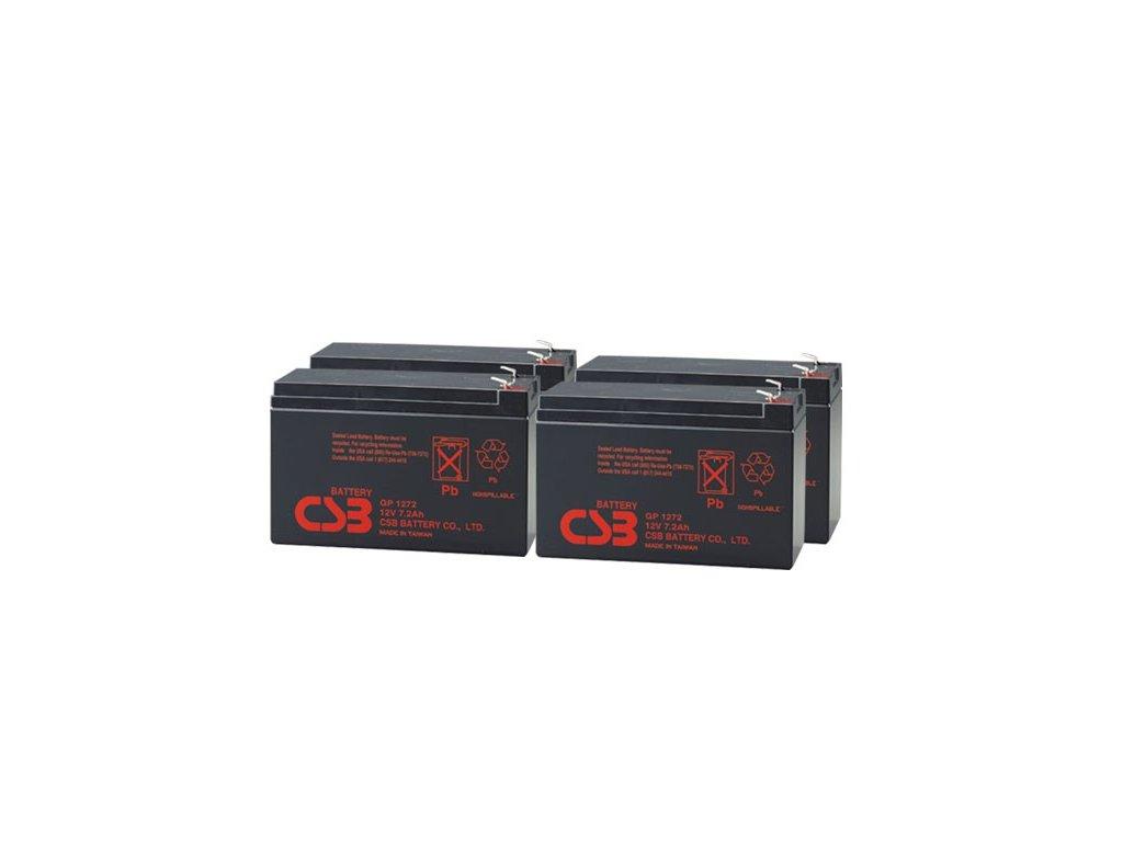 APC RBC25, alternativa bez příslušenství (4ks CSB GP1272 F2)