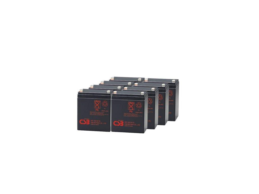 APC RBC43, alternativa bez příslušenství (8ks CSB HR1221 F2)