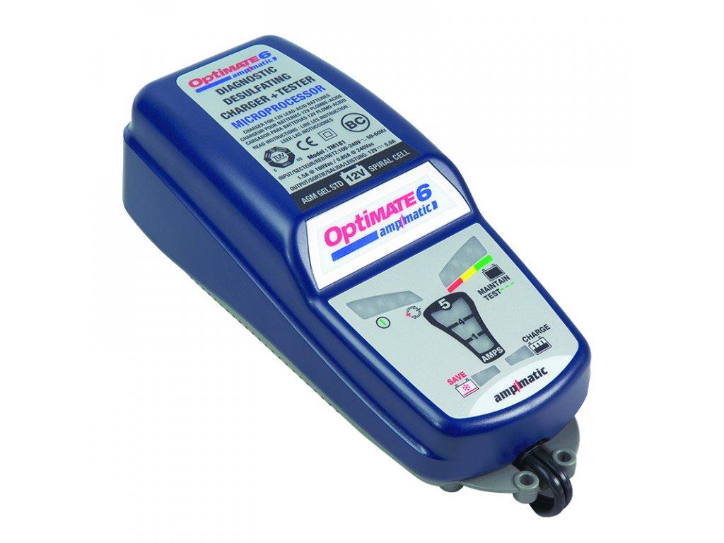 TECMATE nabíječka OPTIMATE 6 Ampmatic, 12V - 5A, TM180