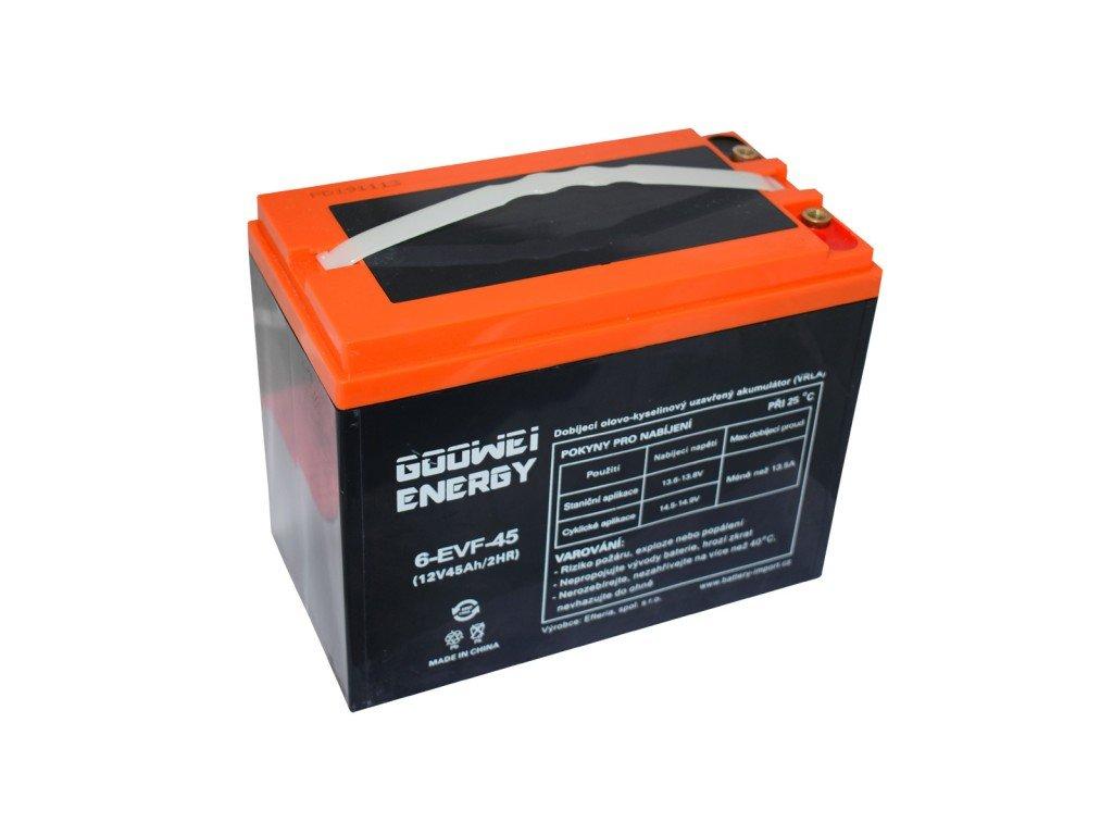 Trakční (GEL) baterie GOOWEI ENERGY - ELECTRIC VEHICLE 6-EVF-45, 45Ah, 12V