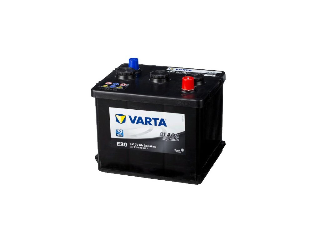 Autobaterie VARTA BLACK Dynamic 77Ah, 6V, E30