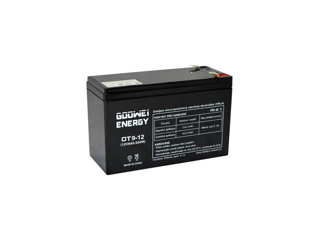 Staniční (záložní) baterie GOOWEI ENERGY OT9-12, 9Ah, 12V ( VRLA )