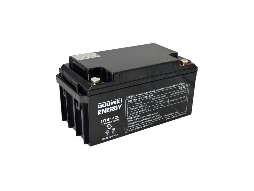 Trakční (GEL) baterie GOOWEI ENERGY OTL65-12, 65Ah, 12V