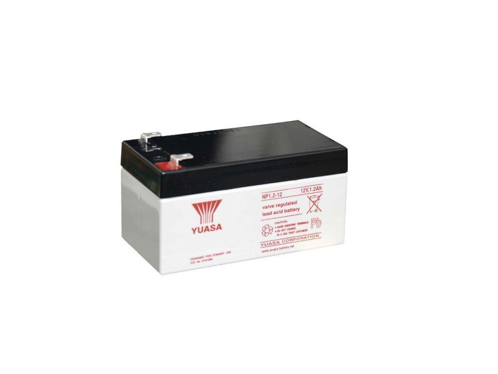 Staniční (záložní) baterie YUASA NP1.2-12,  1,2Ah, 12V
