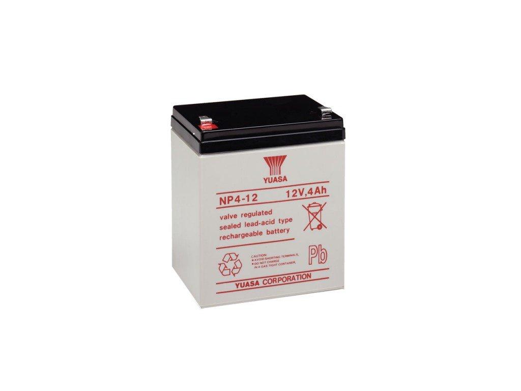 Staniční (záložní) baterie YUASA NP4-12,  4Ah, 12V