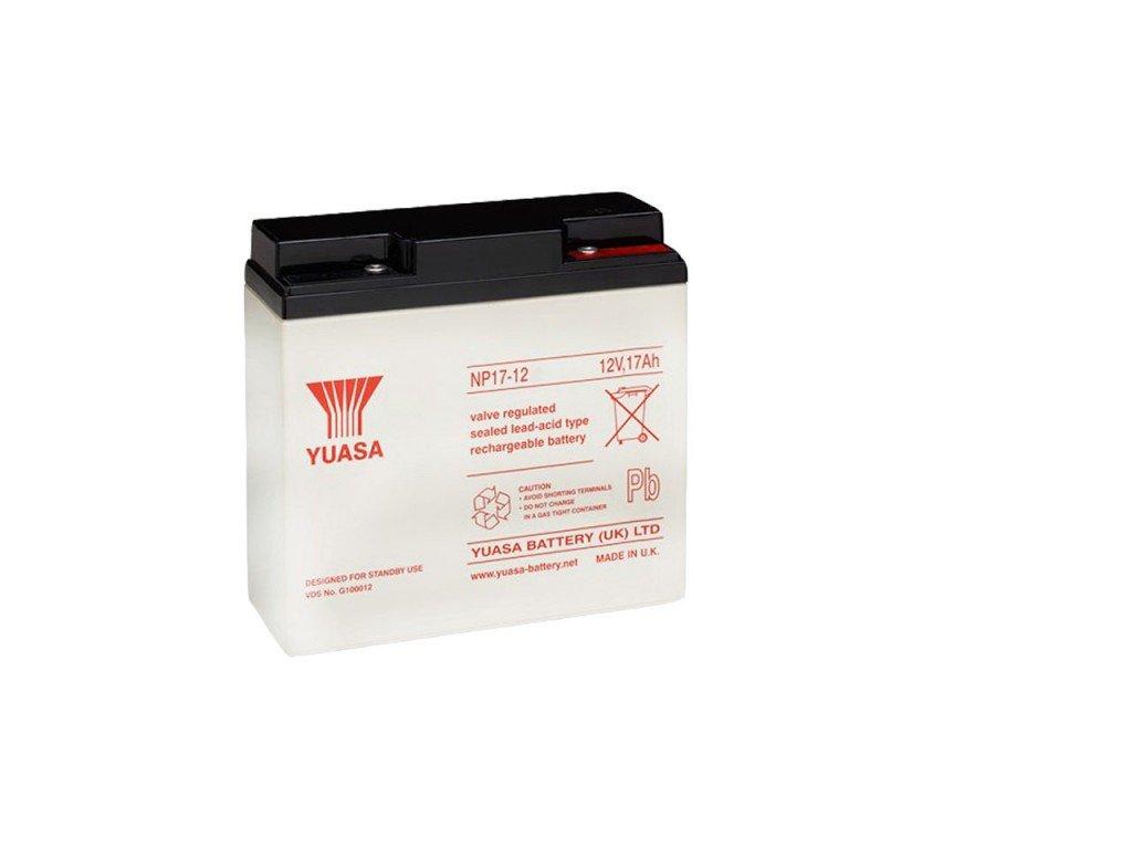 Staniční (záložní) baterie YUASA NP17-12,  17Ah, 12V