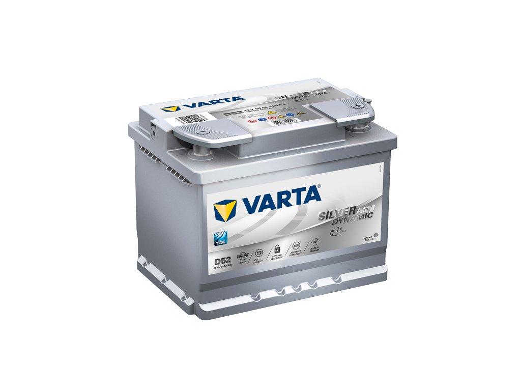 Autobaterie VARTA SILVER Dynamic AGM 60Ah, 12V, D52, AGM