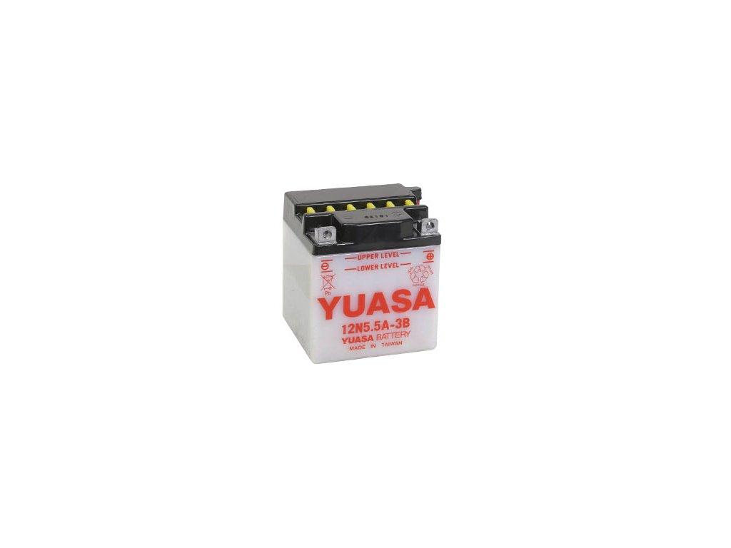 Motobaterie YUASA (originál) 12N5,5A-3B, 12V,  5,5Ah