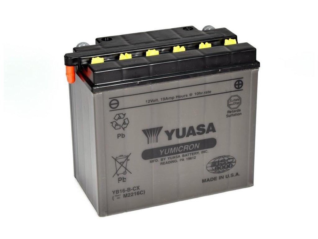 Motobaterie YUASA (originál) YB16-B-CX, 12V,  19Ah