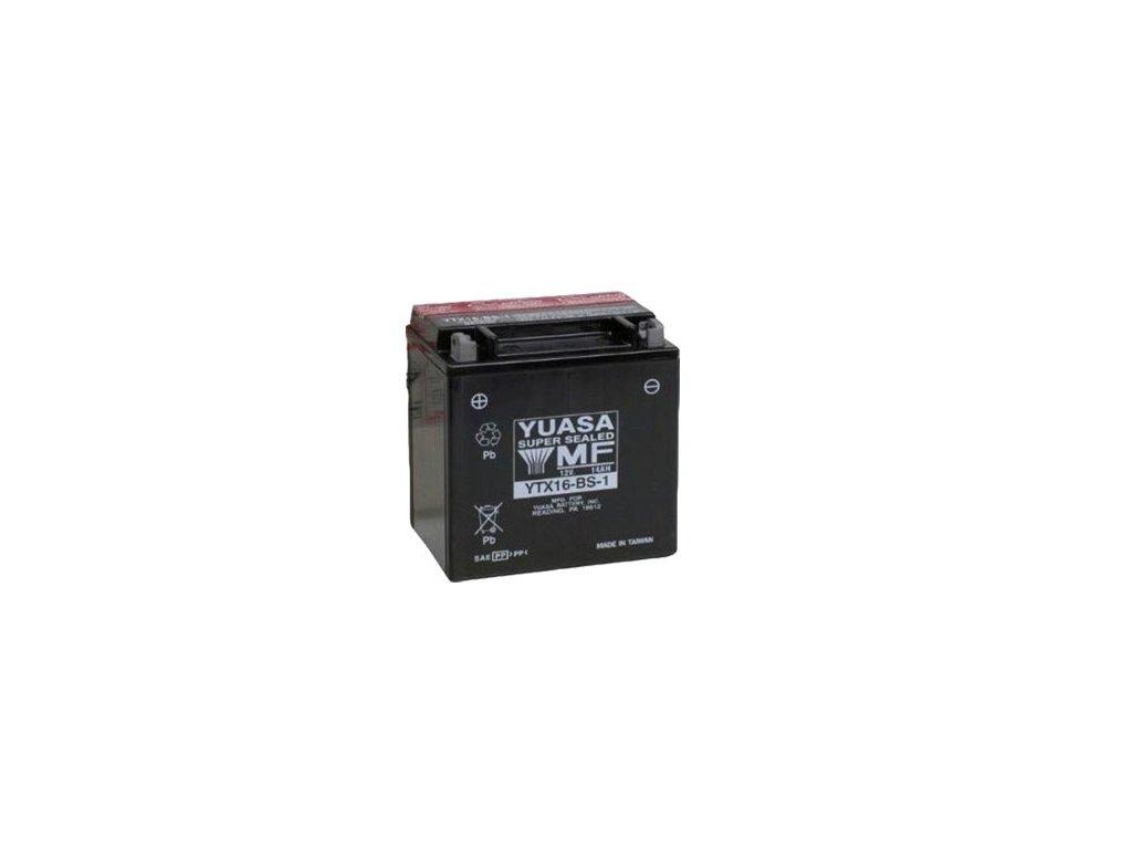Motobaterie YUASA (originál) YTX16-BS-1, 12V,  14Ah