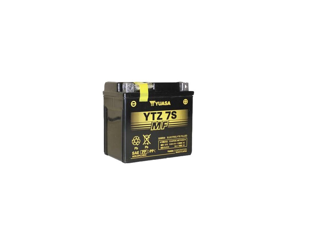 Motobaterie YUASA (originál, factory activated) YTZ7S, 12V,  6Ah