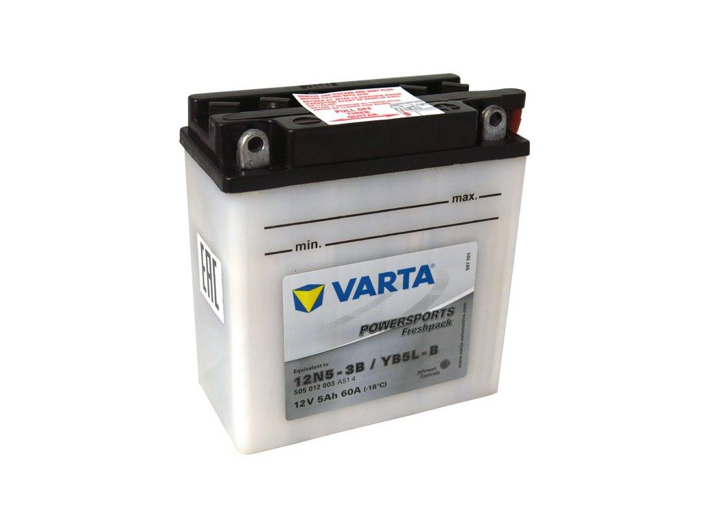 Motobaterie VARTA  YB5L-B / 12N5-3B, 5Ah, 12V