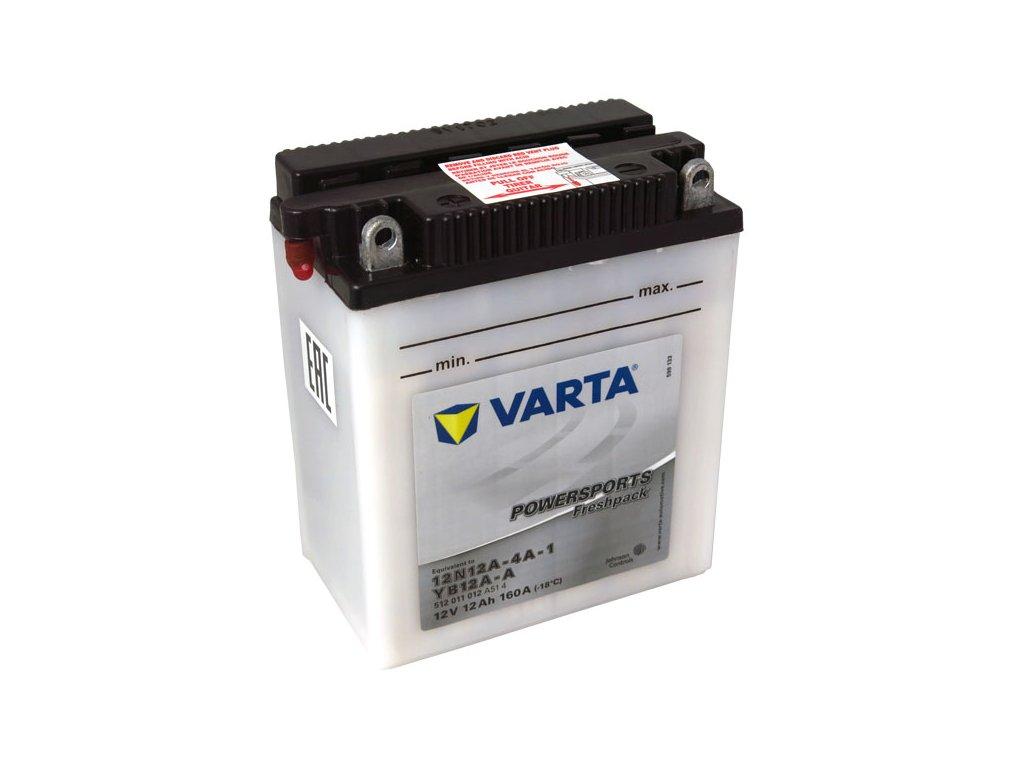 Motobaterie VARTA  12N12-4A-1 / YB12A-A, 12Ah, 12V
