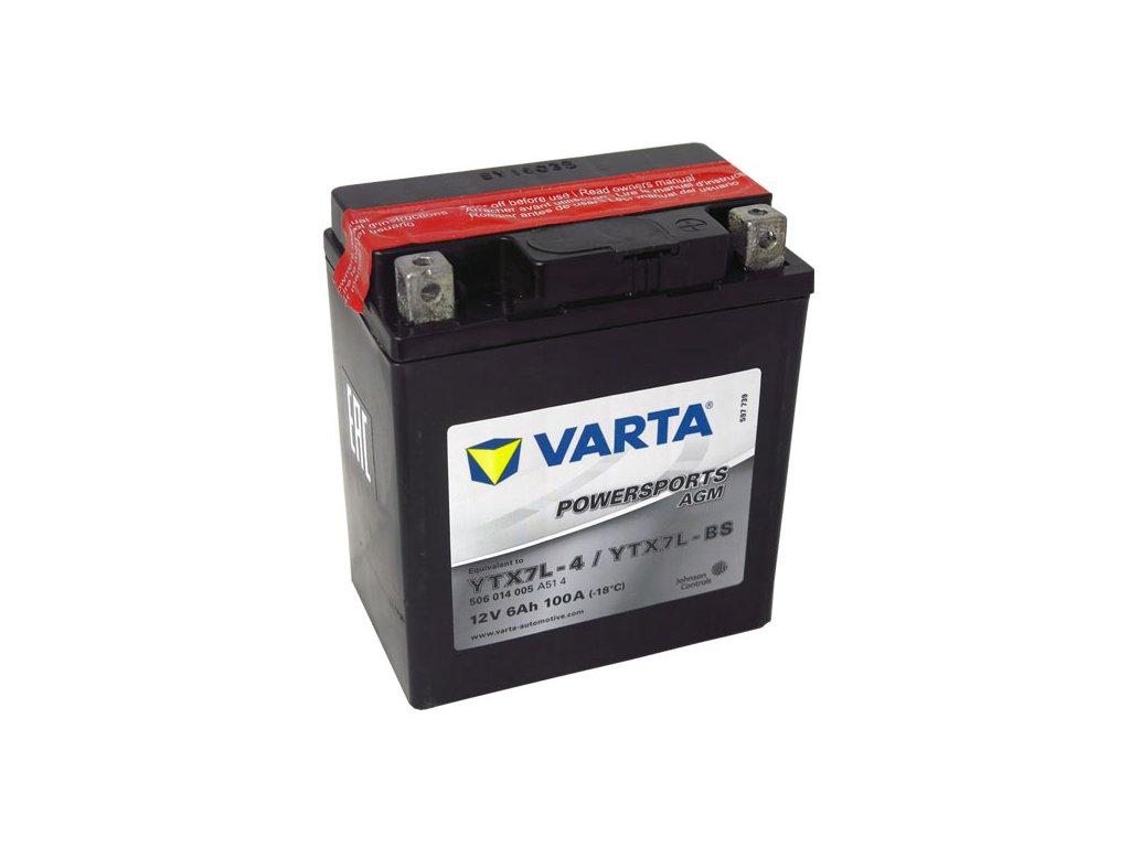 Motobaterie VARTA  YTX7L-BS, 6Ah, 12V
