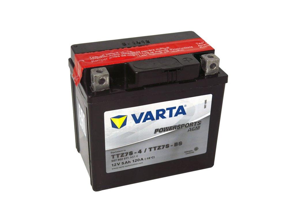 Motobaterie VARTA  TTZ7S-BS / YTZ7S-BS, 5Ah, 12V