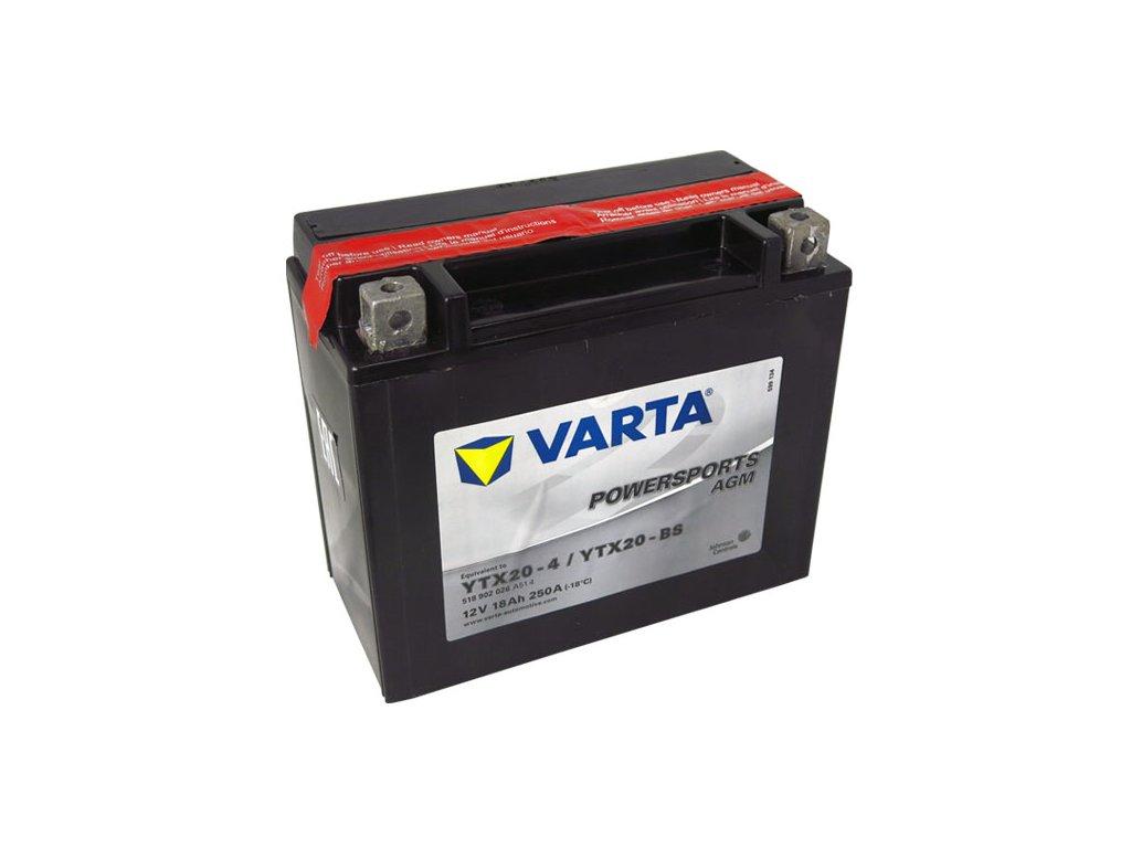 Motobaterie VARTA  YTX20-BS, 18Ah, 12V