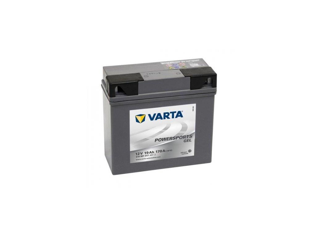 Motobaterie VARTA GEL 519 901 017 (51913-BMW), 19Ah, 12V