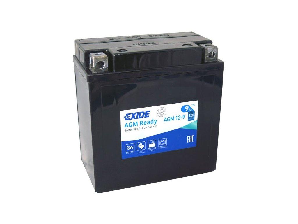 Motobaterie EXIDE BIKE Factory Sealed 9Ah, 12V, AGM12-9 (YB9-B)