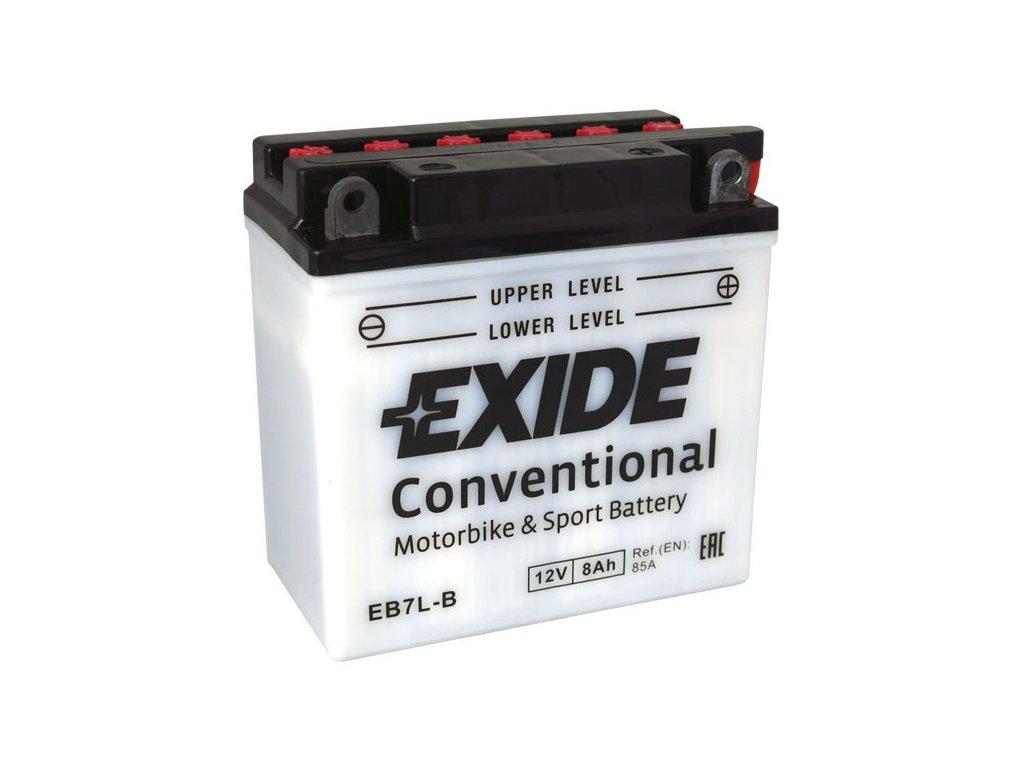 Motobaterie EXIDE BIKE Conventional 8Ah, 12V, EB7L-B / 12N7-3B