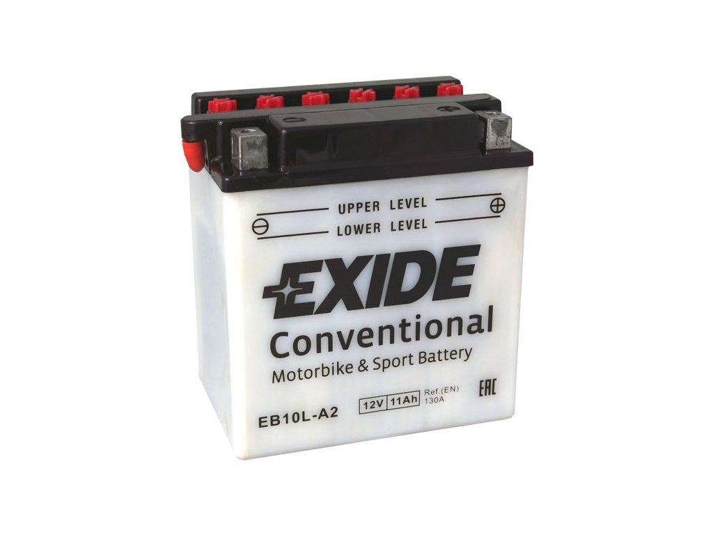 Motobaterie EXIDE BIKE Conventional 11Ah, 12V, EB10L-A2