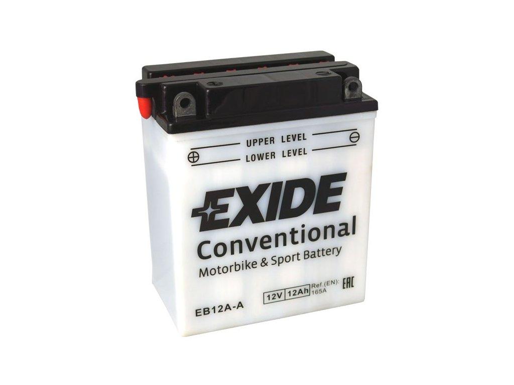 Motobaterie EXIDE BIKE Conventional 12Ah, 12V, EB12A-A / 12N12A-4A-1