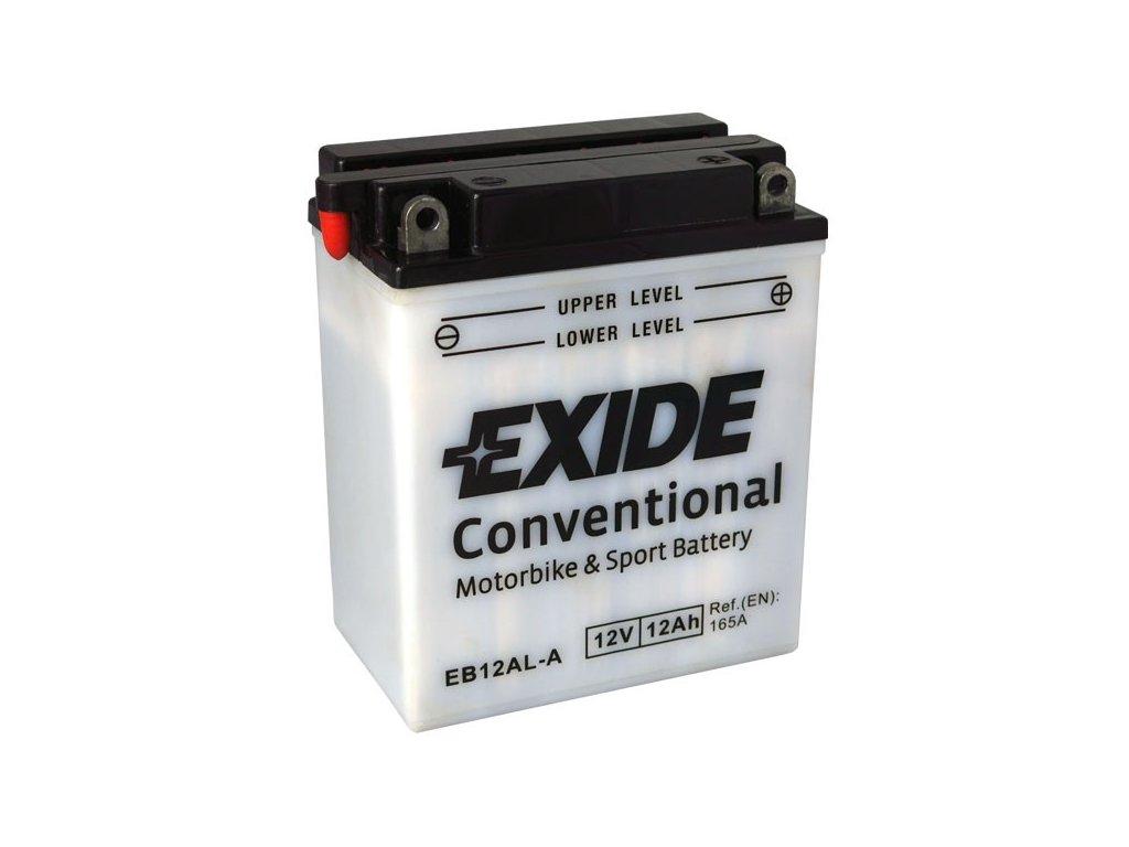 Motobaterie EXIDE BIKE Conventional 12Ah, 12V, EB12AL-A