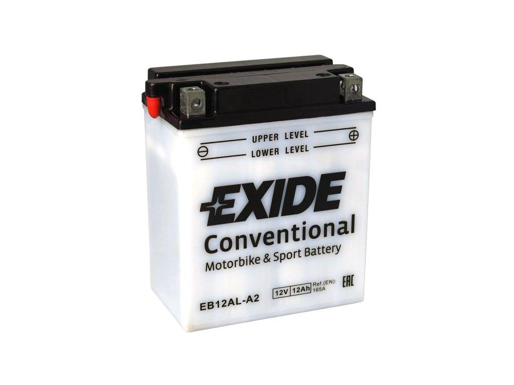 Motobaterie EXIDE BIKE Conventional 12Ah, 12V, EB12AL-A2