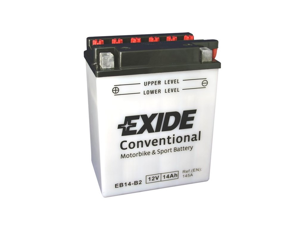 Motobaterie EXIDE BIKE Conventional 14Ah, 12V, EB14-B2