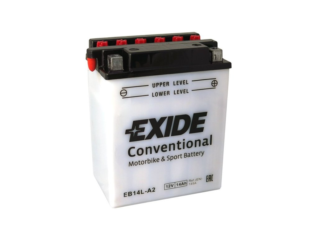 Motobaterie EXIDE BIKE Conventional 14Ah, 12V, EB14L-A2 / 12N14-3A
