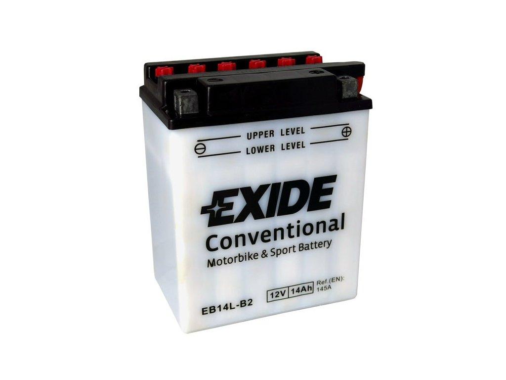 Motobaterie EXIDE BIKE Conventional 14Ah, 12V, EB14L-B2