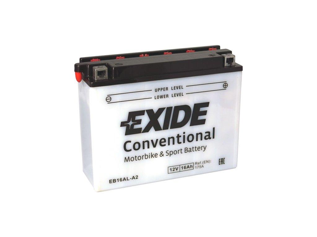 Motobaterie EXIDE BIKE Conventional 16Ah, 12V, EB16AL-A2