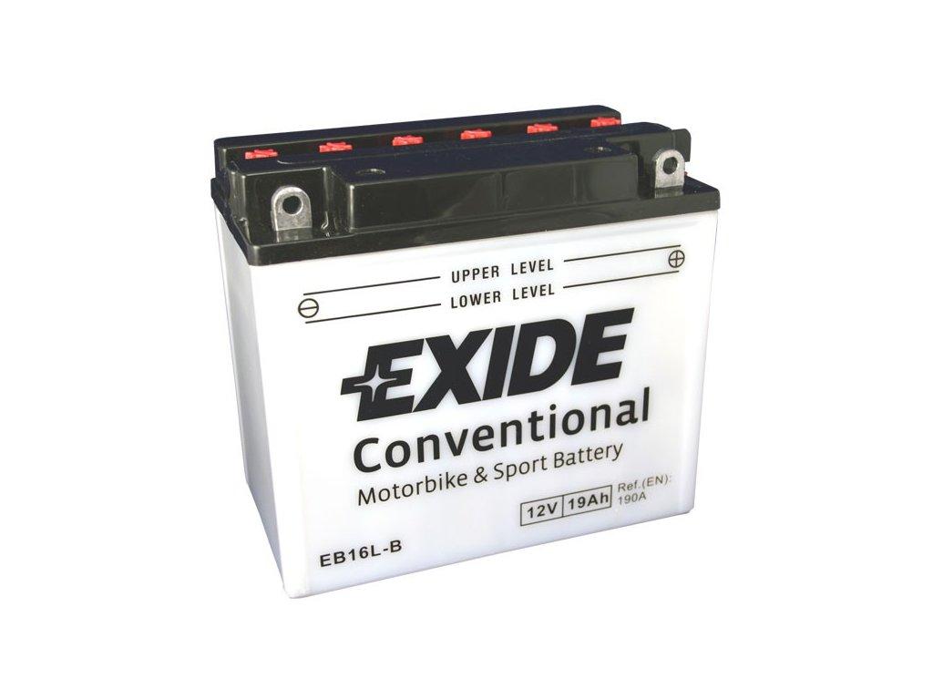 Motobaterie EXIDE BIKE Conventional 19Ah, 12V, EB16L-B