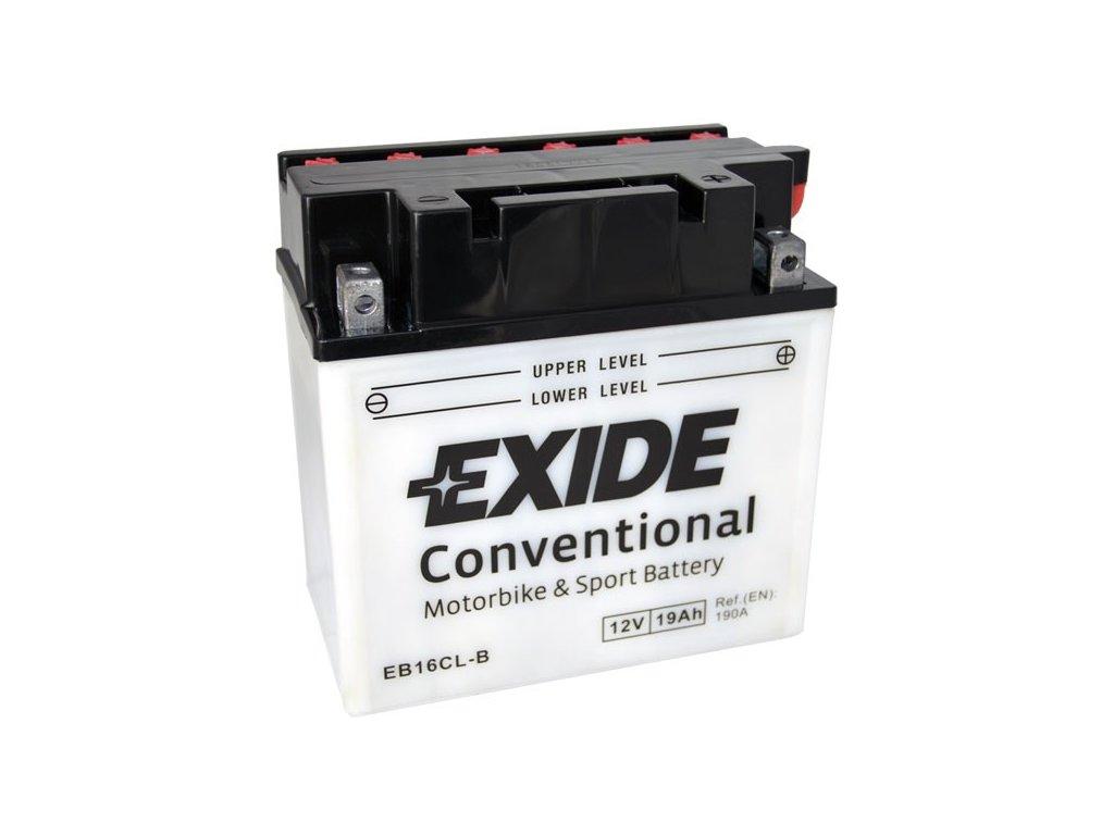 Motobaterie EXIDE BIKE Conventional 19Ah, 12V, EB16CL-B