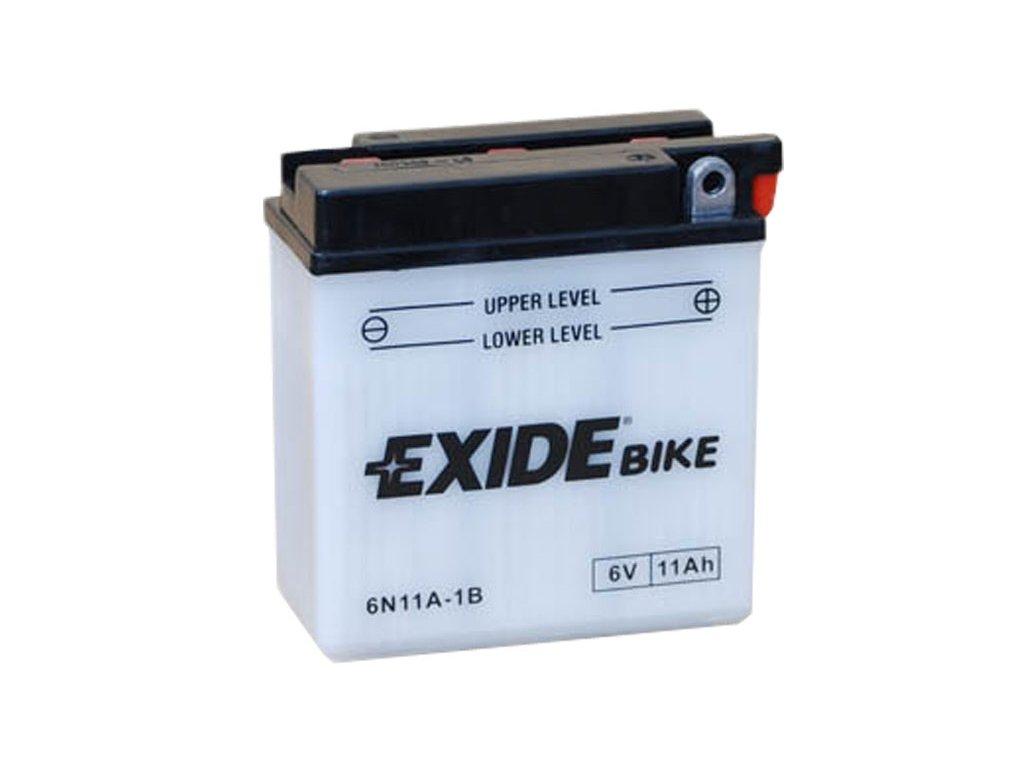 Motobaterie EXIDE BIKE Conventional 11Ah, 6V, 6N11A-1B