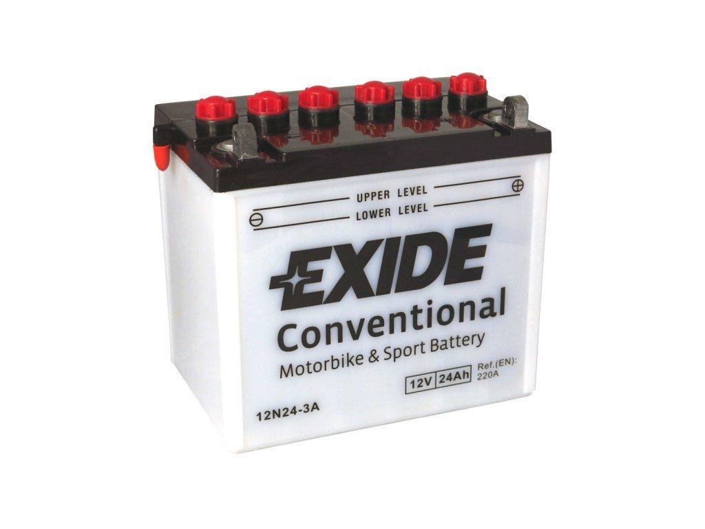 Motobaterie EXIDE BIKE Conventional 24Ah, 12V, 12N24-3A