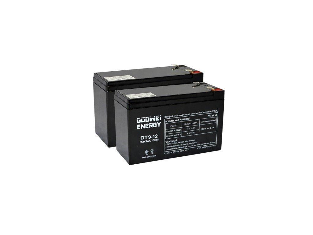 Goowei baterie APC RBC124 (2ks Goowei OT9-12) - neoriginální