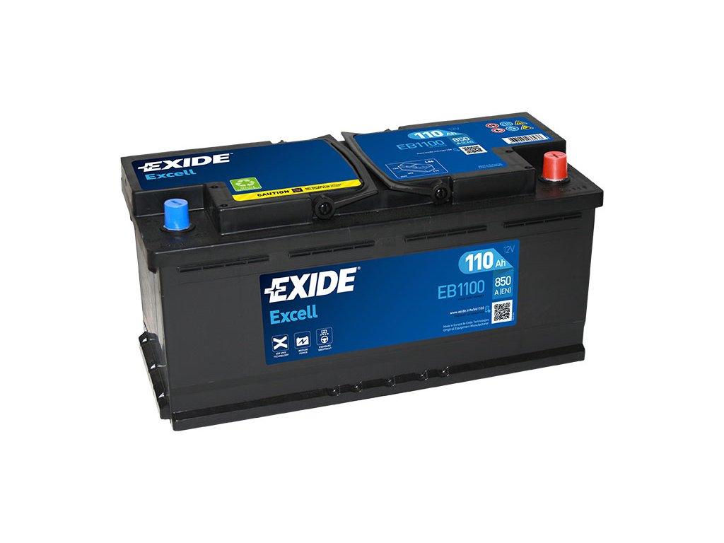 Autobaterie EXIDE EXCELL 110Ah, 12V, EB1100