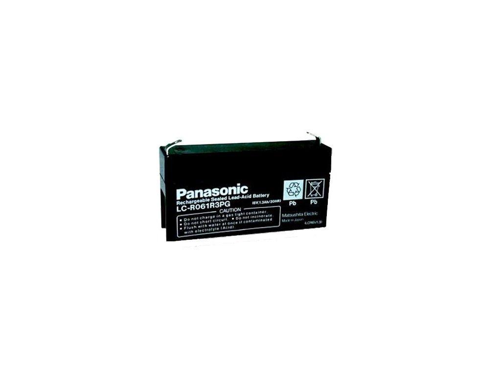 Panasonic LC-R061R3P, 6V - 1.3Ah, záložní baterie