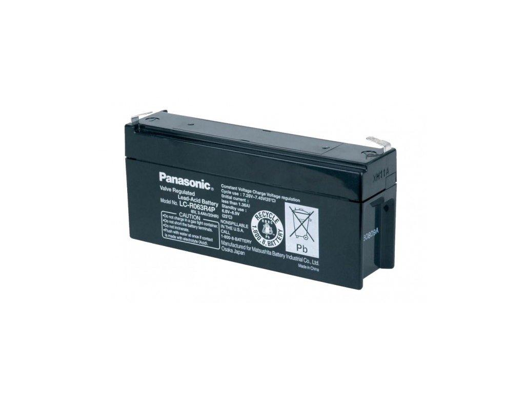 Panasonic LC-R063R4P, 6V - 3.4Ah, záložní baterie