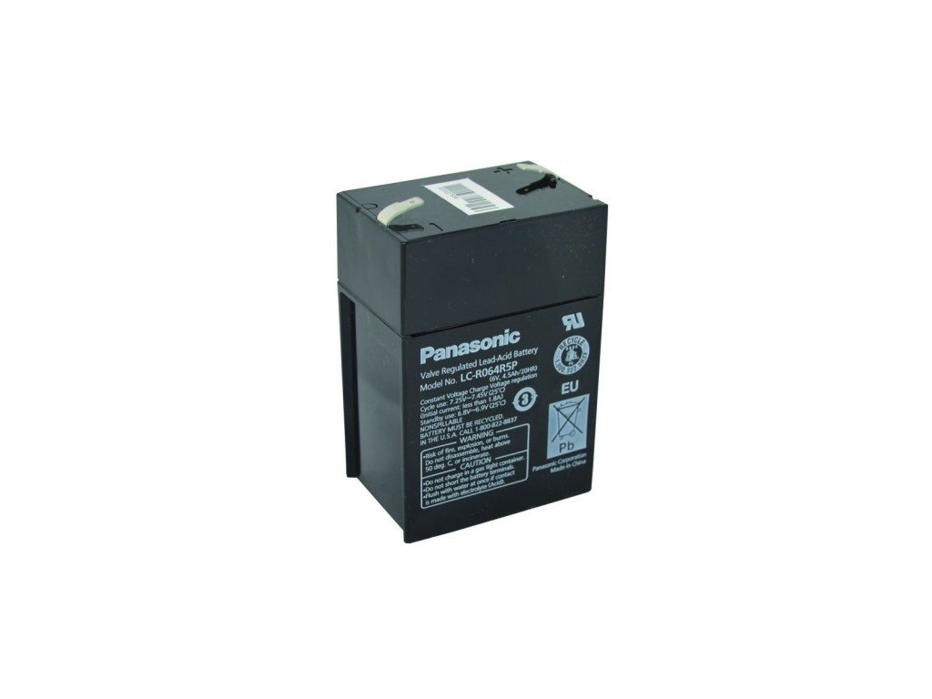 Panasonic LC-R064R5P, 6V - 4.5Ah, záložní baterie