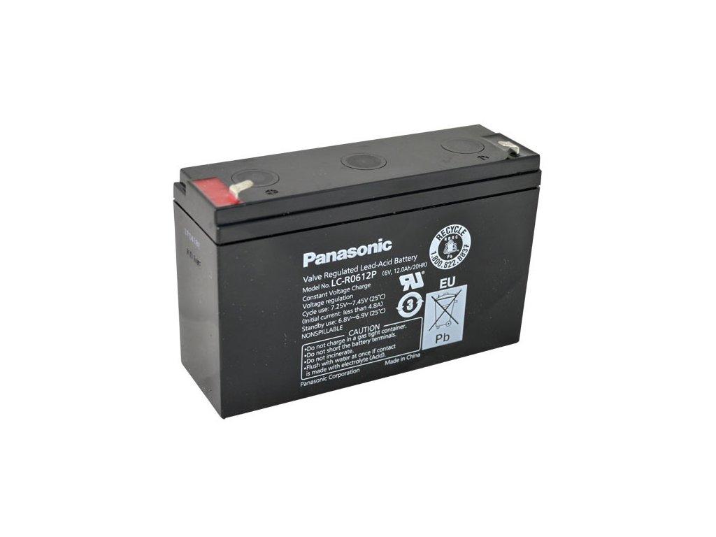Panasonic LC-R0612P, 6V - 12Ah, záložní baterie