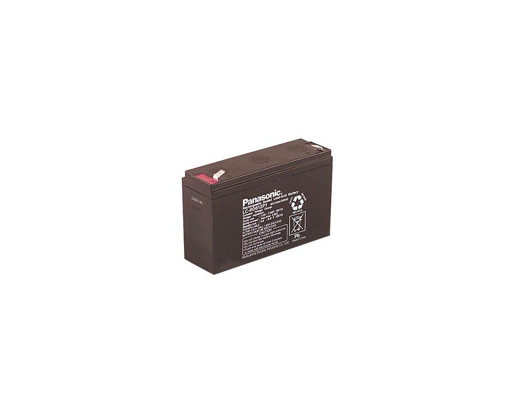 Panasonic LC-R0612P1, 6V - 12Ah, záložní baterie